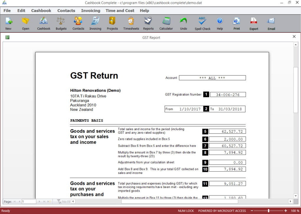 GST Return example